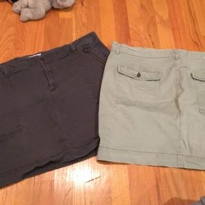 Two Old Navy Cargo Skirts